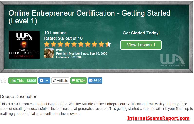 Online Entrepreneur Certification