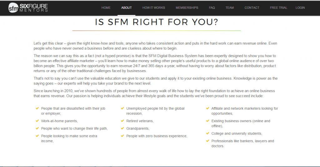 six figure mentors, sfm
