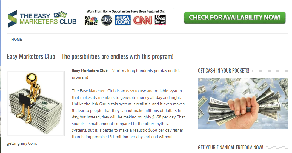 is the easy marketer club a scam