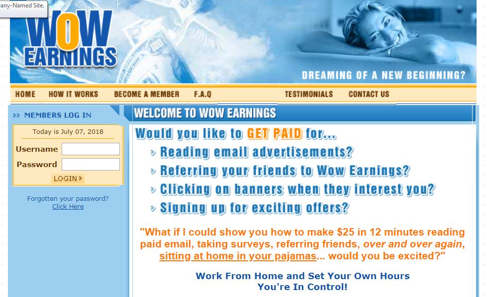 Is Wow Earnings A Scam