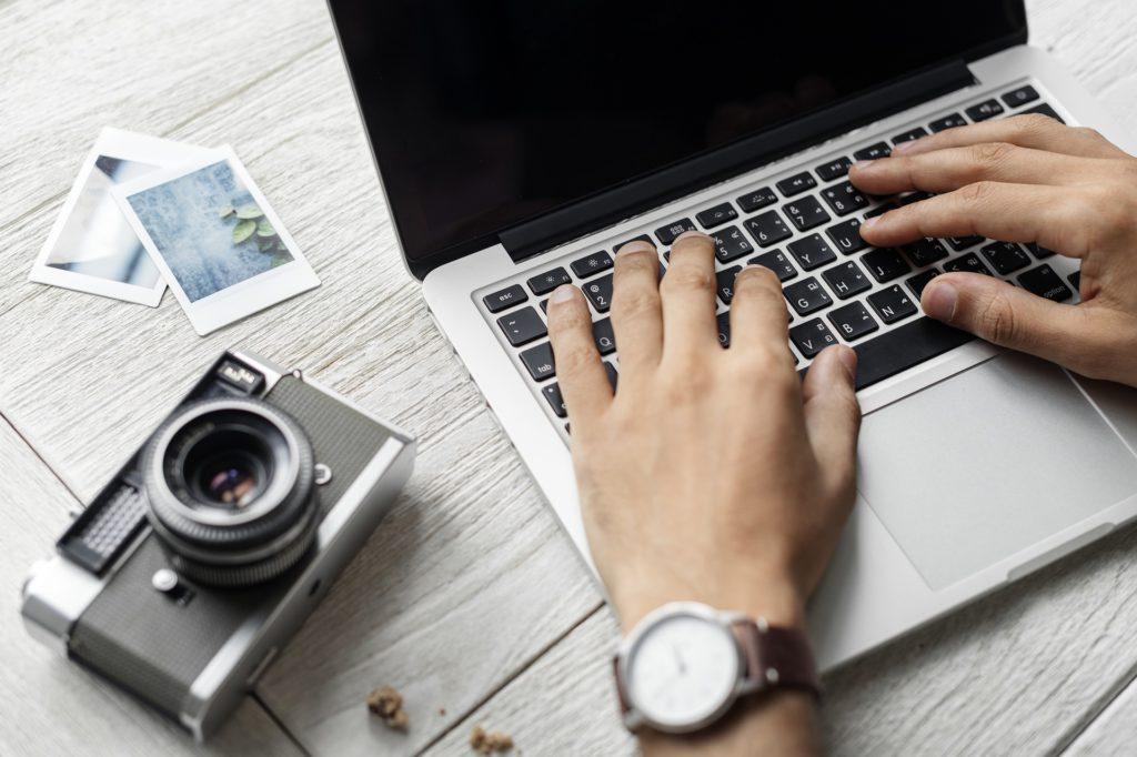 freelancer working on laptop