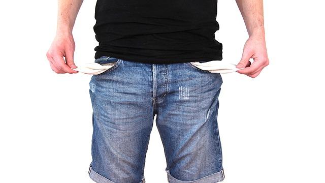 empty jean pockets
