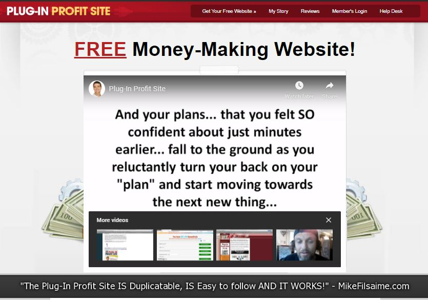 Plugin Profit Site Review – Done-For-You Site and Pyramid Scheme in Disguise - Homepage