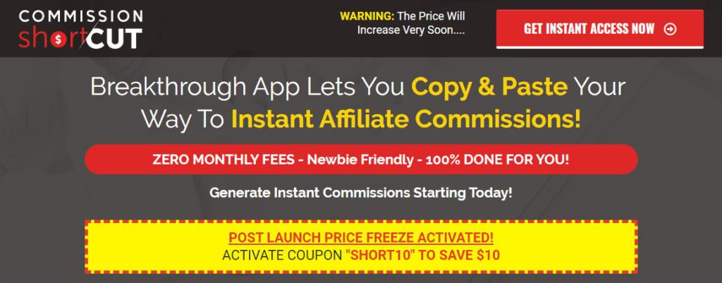 Commission Shortcut Review – Real Shortcut to Earn or Another Scam?