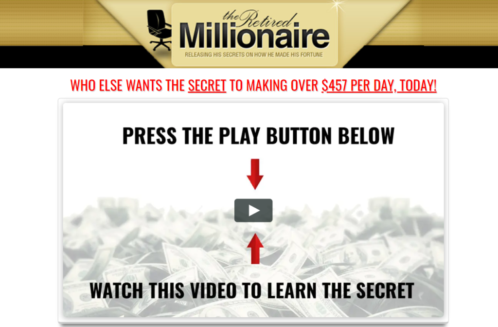 Retired Millionaire System Review - $1000 per Day or Another Scam!?