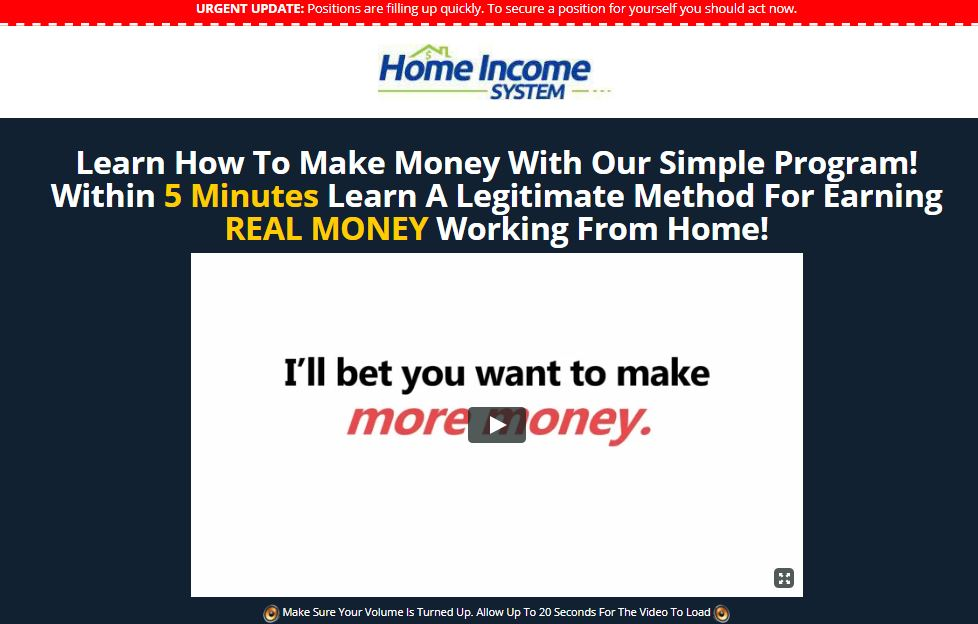 Is Home Income System a Scam? – Post Ad Links & Earn $400/Day?