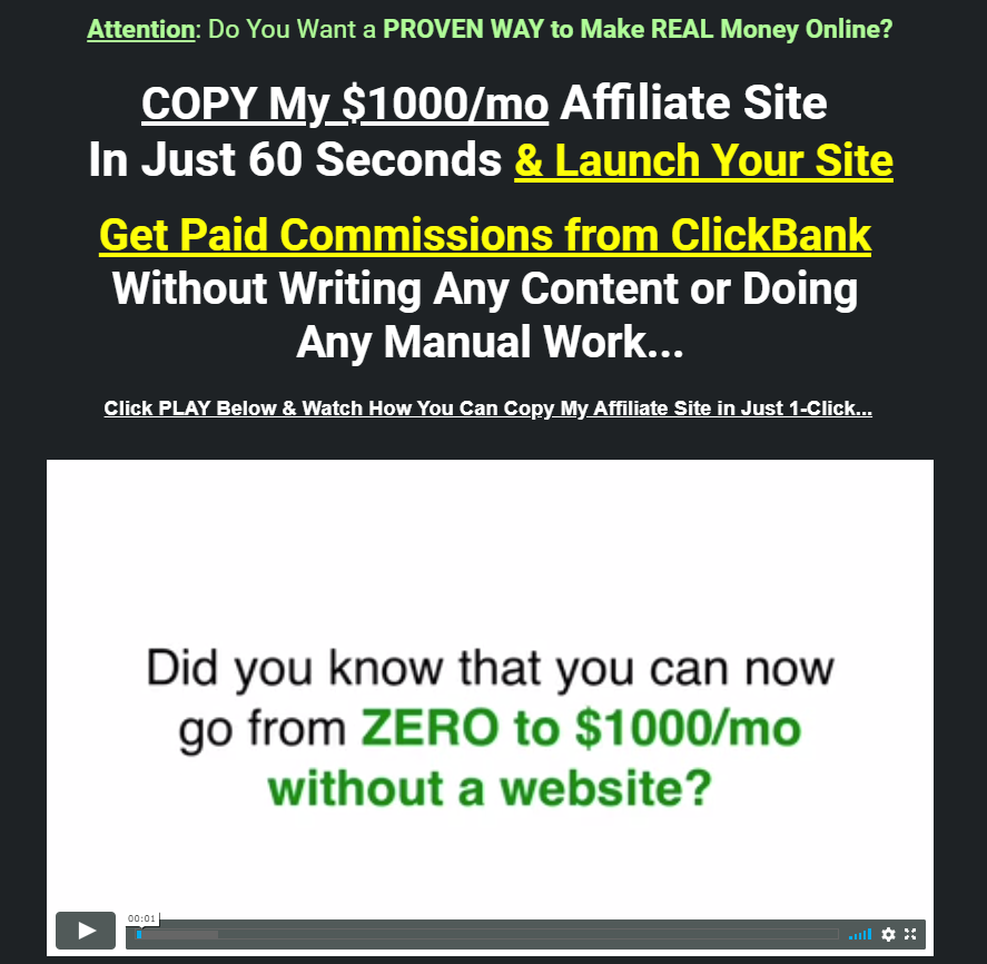 The Instant Commission Site Review - Scam or Easy $1000/Month?