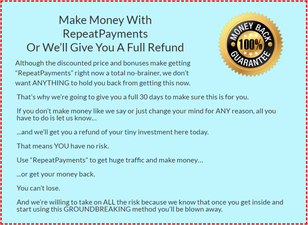 The Refund Policy