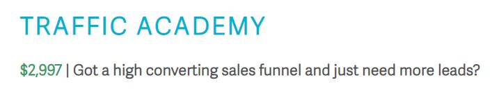 Traffic Academy - $2,997
