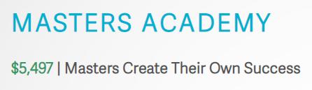 Master's Academy - $5,497