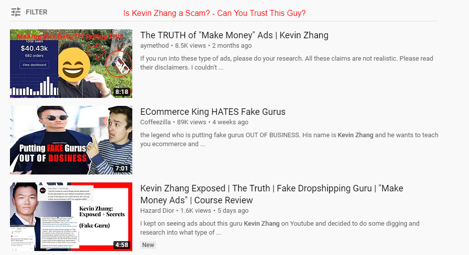 Is Kevin Zhang a Scam? - Can You Trust This Guy?